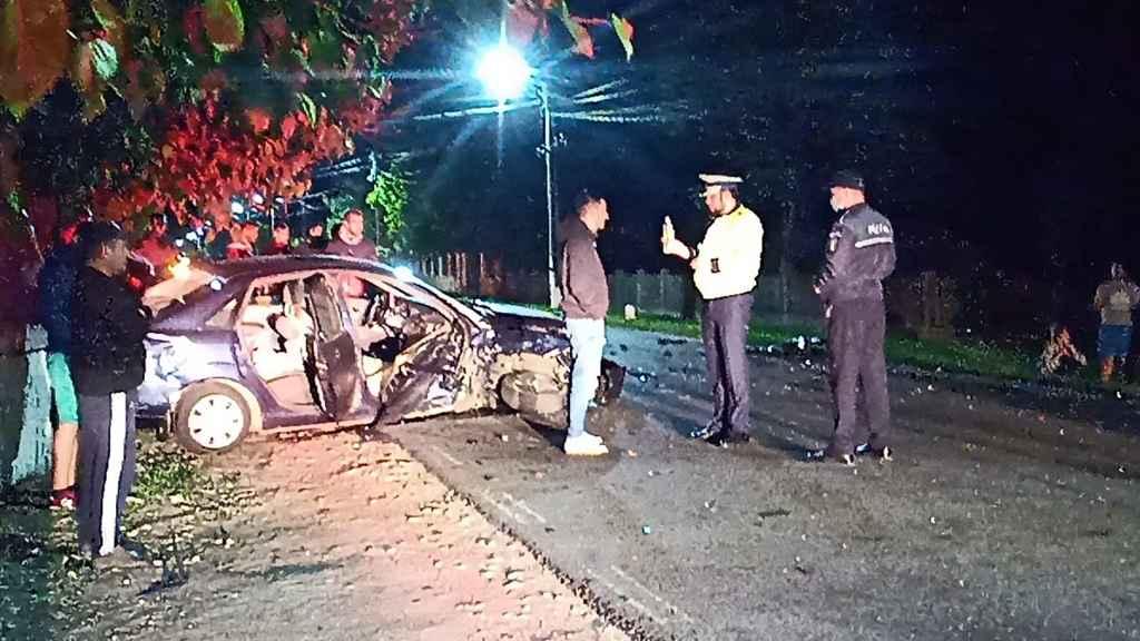 VIDEO. Grav accident la Orbeasca.Trei tineri au ajuns la spital